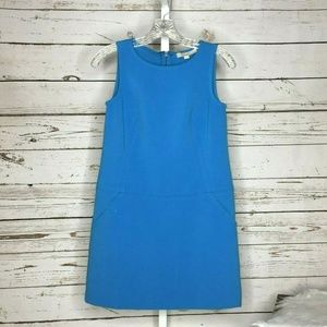 Ann Taylor Loft sleeveless blue dress size 0P